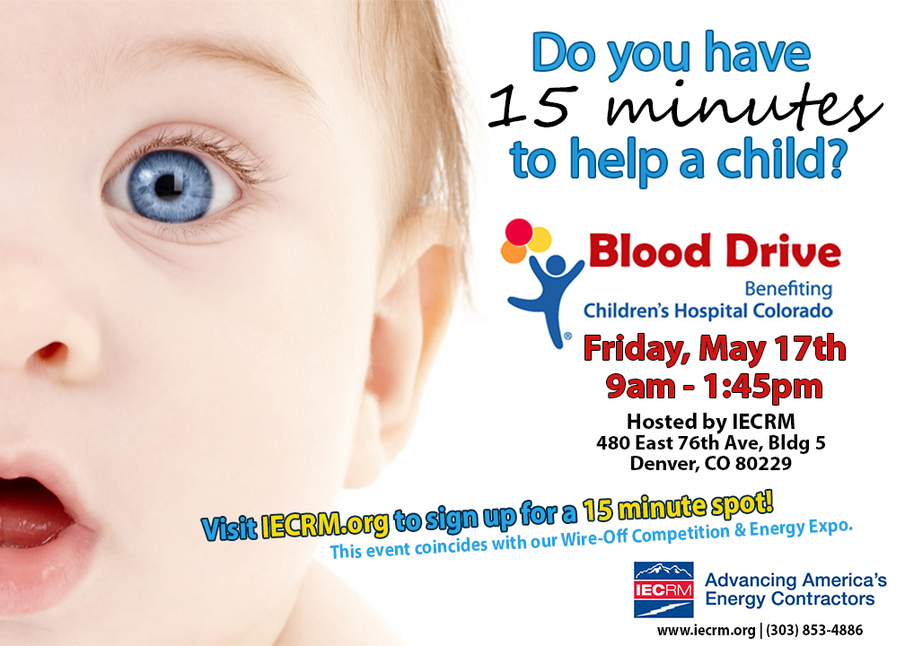 Blood Drive for Children's Hospital Colorado in Denver Colorado