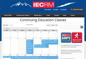 IECRM Continuing Education class calendar