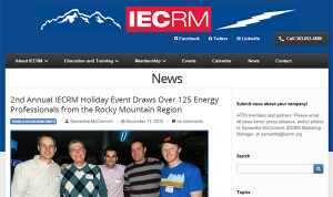 IECRM News section on website