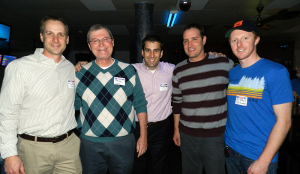 CED bowling team at last year's party