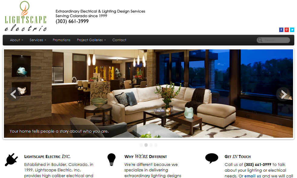 Lightscape Electric new website