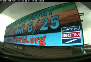 A billboard on I-76 advertising the Energy Industry Job Fair