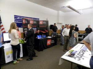 Booths at the Energy Industry Job Fair in Denver