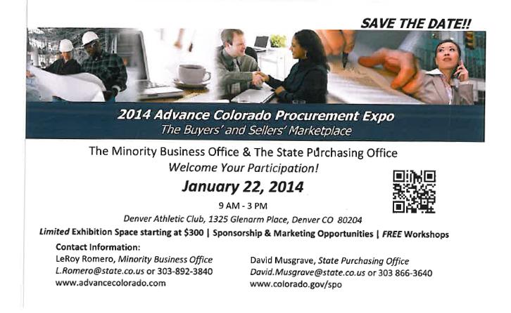 2014 Advance Colorado Procurement Expo Flyer