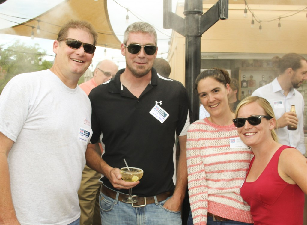 IECRM Happy Hour: Peter Matthews (Lightscape Electric), Trevor Parmenter (Southpaw Electric), Juhnna Fuller (CED Boulder), Samantha McCormick (IECRM)